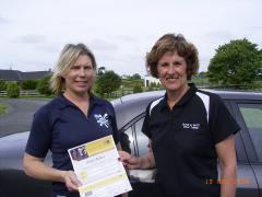 Client completing a driving course